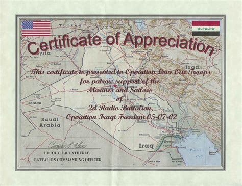 tag army certificate of appreciation thank you note for parents from new calendar