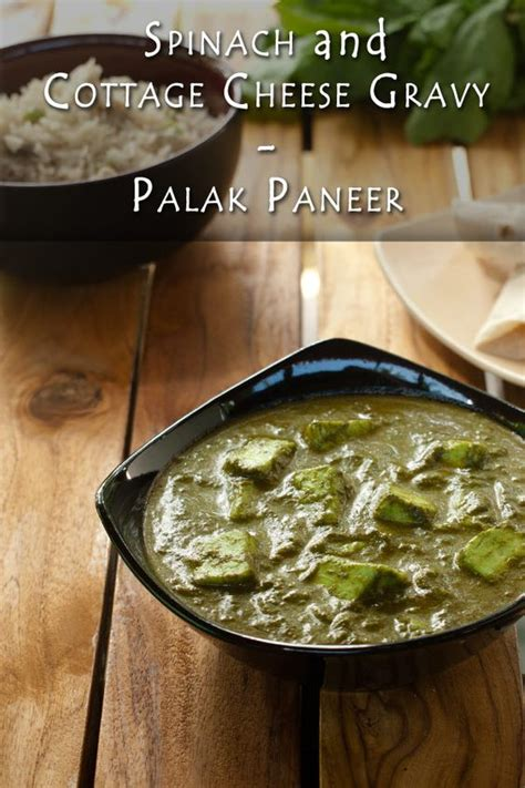 Spinach And Cottage Cheese Indian Recipe by Palak Paneer Cottage Cheese And Gravy On