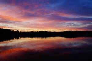 Landscape Pictures Of Sunset Beautiful Sunset Landscape On River Domain Free