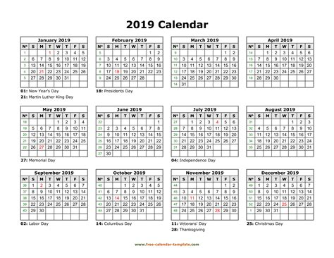 printable yearly calendar   calendar templatecom