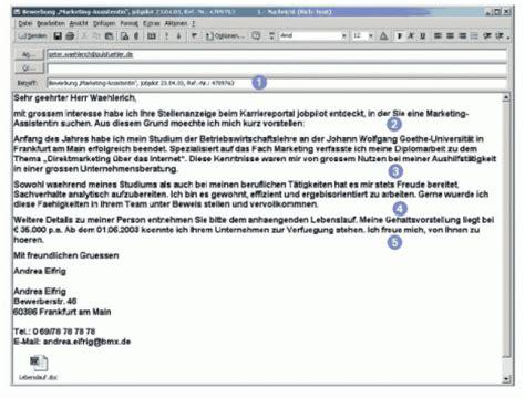 Bewerbung Per Email Wohin Das Anschreiben Bewerbungs Regeln Internetbewerbung 3