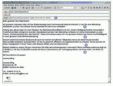 E Mail Text Bei Bewerbung Beispiel Bewerbungs Regeln Internetbewerbung 3