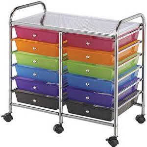 Storage Carts On Wheels With Drawers Blue Studio Storage Cart