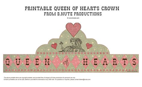 printable queen crown hatters teas mad hatters queen of hearts tea parties