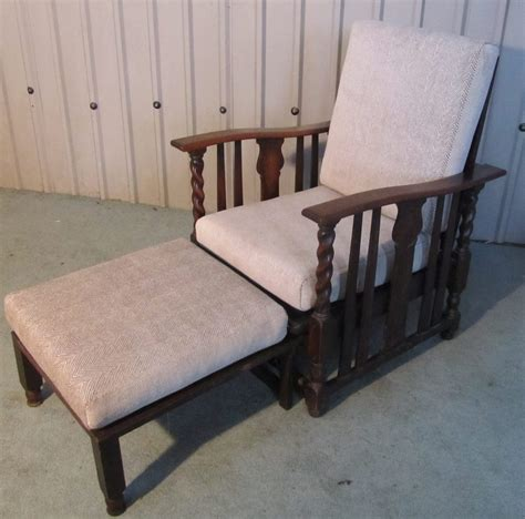 recliner chair bed victorian barley twist oak reclining or bed chair antiques atlas