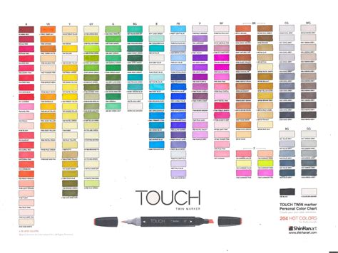 what color are my chart dina kowal creative touch marker color charts