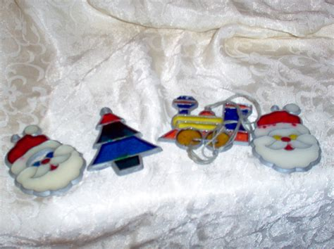 4 shrinky dink vintage christmas ornaments ornaments