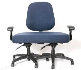 Desk Chair Person Shooting A Fly Bulging Saddles