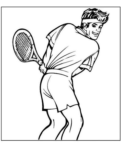 Tennis Coloring Pages Coloringpages1001 Com Tennis Coloring Pages
