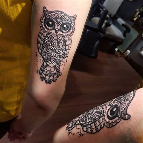 class tattoo designs owl mandala av julie stromsnesdesign tattoos