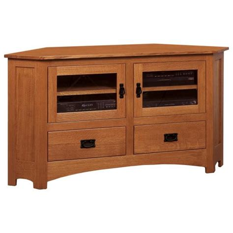 mission 61 quot corner cabinet clear creek amish furniture