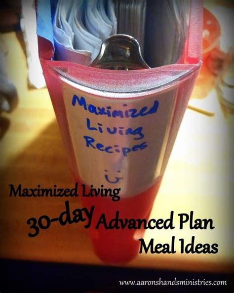 Maximized Living Detox Diet by Maximized Living 30 Day Advanced Plan Meal Ideas Www