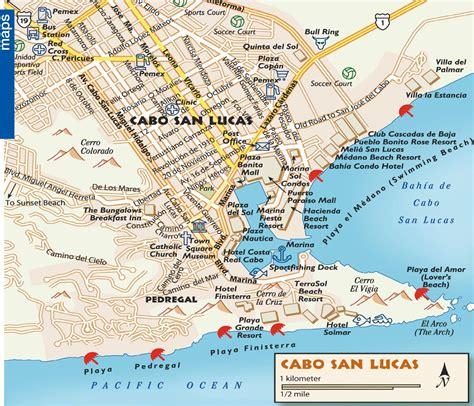 map of cabo san lucas cabo san lucas tourist map