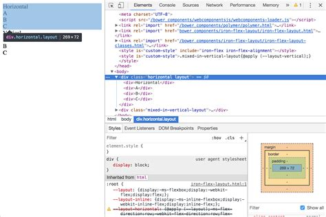 javascript flex layout javascript unable to get polymer 2 iron flex layout to