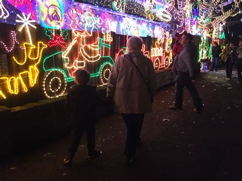 christmas lights at melksham treading on lego