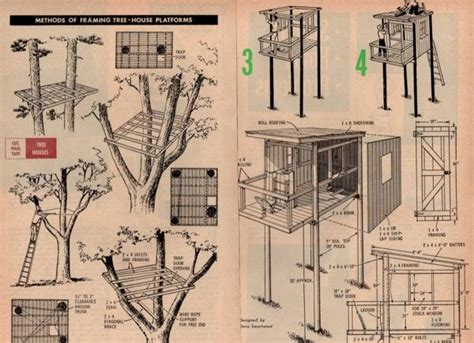 treehouse floor plans pdf plans treehouse playhouse plans download spice rack