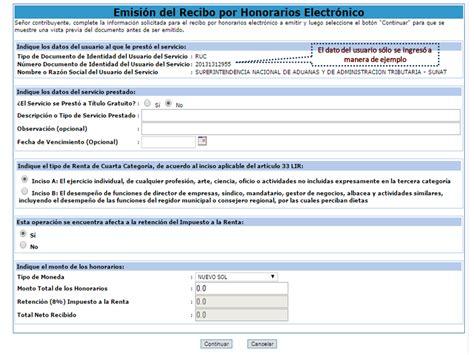 como imprimir un recibo electronico 191 c 243 mo emitir recibos por honorarios electr 243 nicos sol