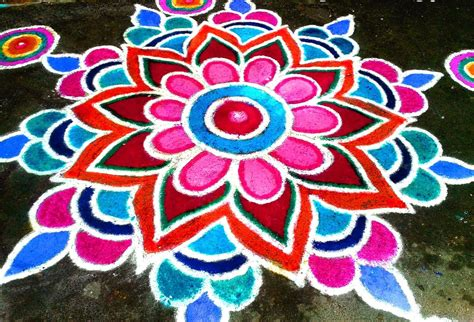 design house of flowers diwali rangoli designs with dots flowers deewali rangoli