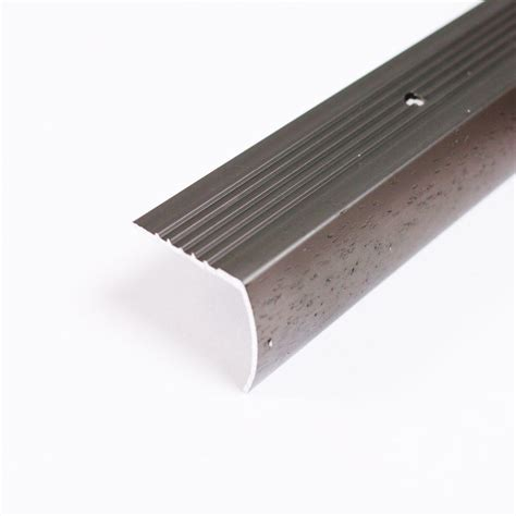 stair nosing home depot trafficmaster pewter hammered 144 in stair edging 31492