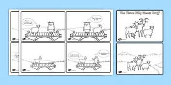 3 Billy Goats Gruff Sequencing Worksheet by The Three Billy Goats Gruff Story Sequencing With Speech