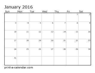 download 2016 printable calendars