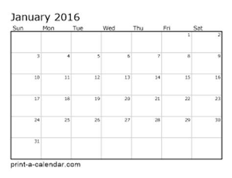 printable calendar 2016 each month download 2016 printable calendars