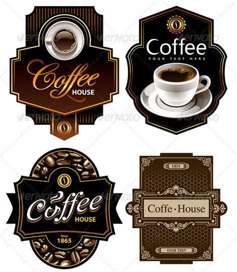 25 Delicious Coffee Design Resources Entheos Coffee Label Design Template