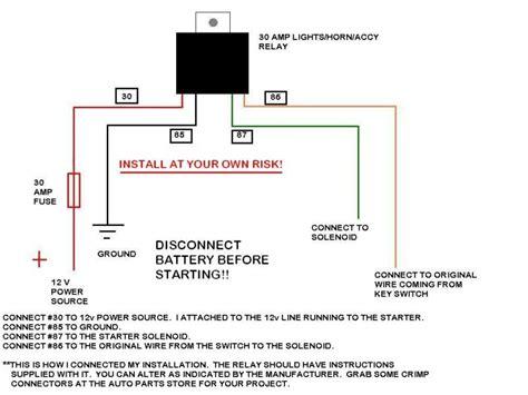 4 Point Starter Diagram
