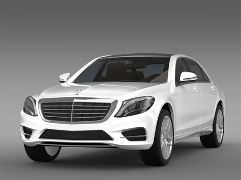 mercedes s 300 bluetec hybrid w222 2013 3d model obj