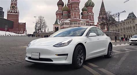 tesla model 3 zeit tesla model 3 in russia hits the streets of moscow