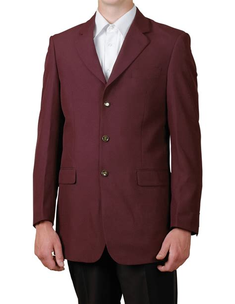 Suit Blazer new mens 3 button burgundy blazer suit jacket 44r 44 r ebay