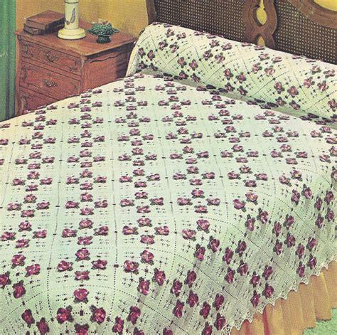 making a coverlet vintage crochet pattern to make pansy bedspread motif