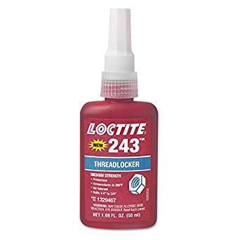 loctite colors loctite 1329467 243 blue medium strength threadlockers 1