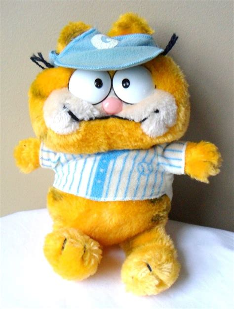 1981 Garfield Odie White Blue garfield 1981 quot dakin vintage baseball player and 40 similar items