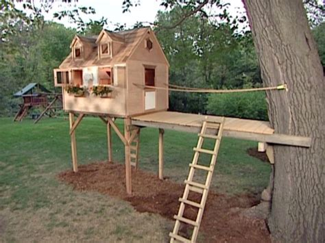 backyard tree house kits how to build a tree fort how tos diy