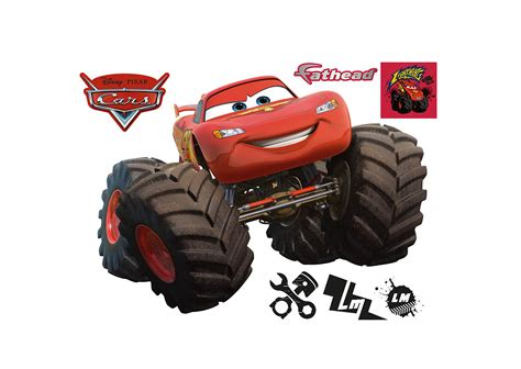 lightning mcqueen monster truck videos lightning mcqueen monster truck wall decal shop