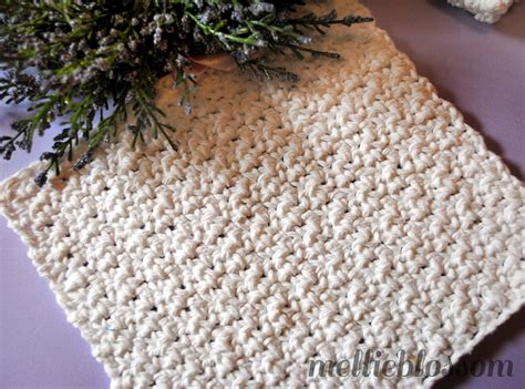 free easy crochet dishcloth pattern mellie blossom