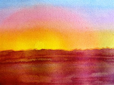 water color sunset easy watercolor paintings of sunsets www imgkid