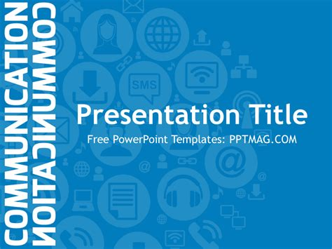 powerpoint templates for communication presentation free communication powerpoint template pptmag