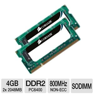Ram V Ddr2 Pc6400 corsair vs4gsdskit800d2 4gb ddr2 pc6400 dual channel