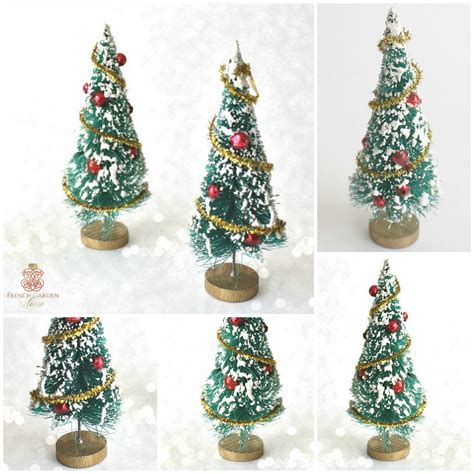 vintage estate green bottle brush christmas tree miniature