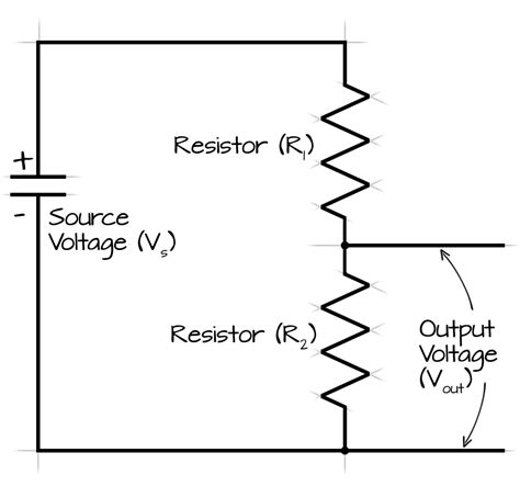 resistor voltage output voltage divider calculator