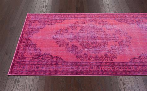 overdyed pink rug chroma overdyed rug in pink rosenberryrooms