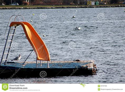 How To Float In Water While Standing by Slide In The Water With Seagull Stock Photo Image 63181605