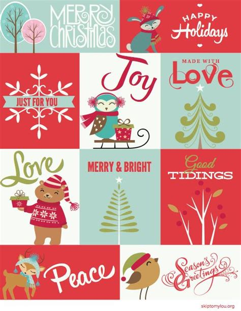 free printable christmas cards pinterest free printable christmas tags for wrapping presents or
