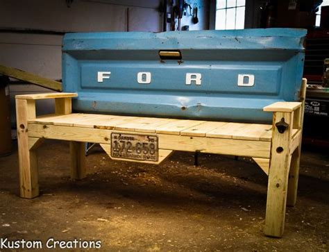 old truck tailgate bench benches made from old truck tailgates reclaimed lumber is