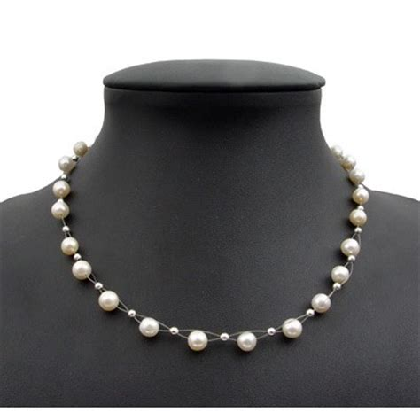 Perlenschmuck Hochzeit by Perlenkette Kette Collier Halskette Echte S 252 223 Wasser Perlen