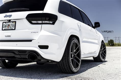 Jeep Rt8 White Jeep Srt8 Velgen Wheels Vmb5 Satin Black 22x10