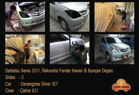 Cat Oven Xenia daihatsu xenia 2011 rekondisi pasca kecelakaan laris abadi