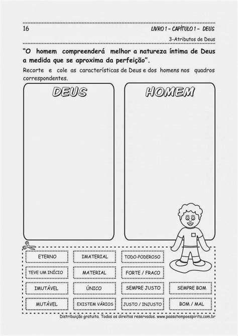 O MANANCIALZINHO: Atividades O Livro dos Espíritos, Cap. 1
